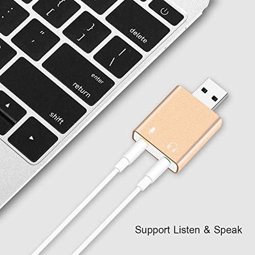 Semoic Adattatore Scheda Audio Audio Esterno 7.1 canali USB