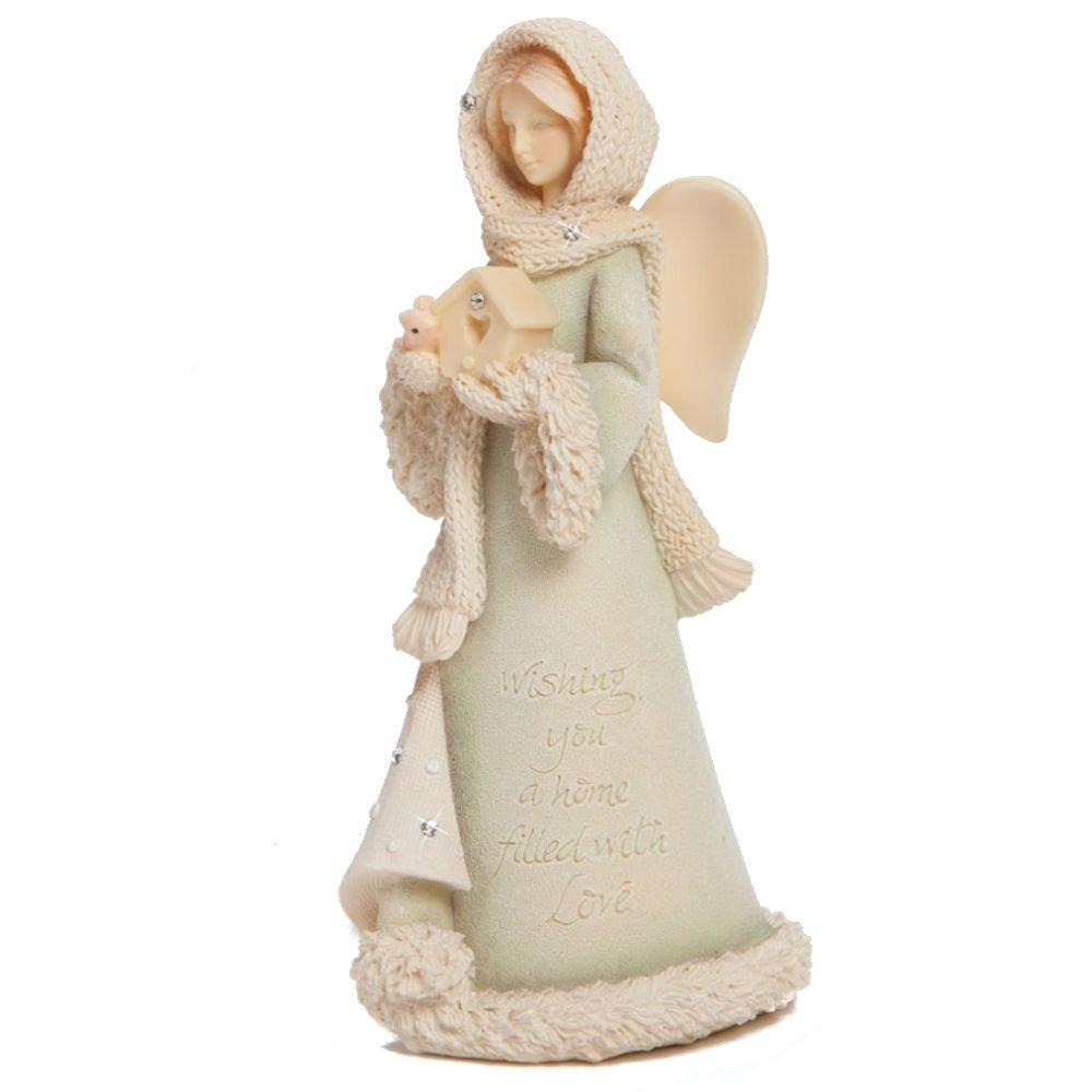 Enesco Foundations Gift Ornament Wishes 4.53-Inch Angel Figurine, Mini