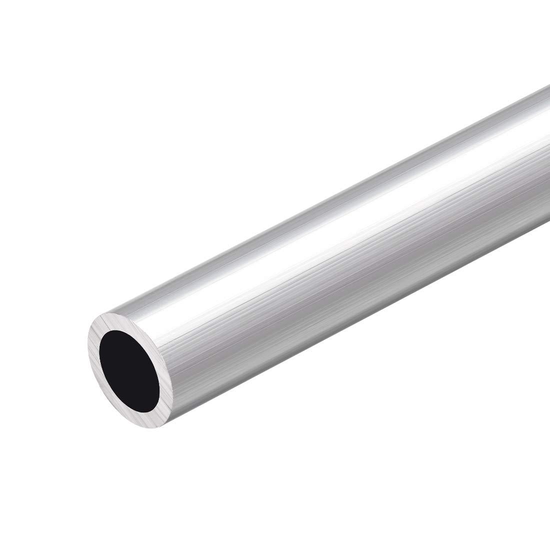 uxcell 6063 Aluminum Round Tube 300mm Length 20mm OD 14mm Inner Dia Seamless Aluminum Straight Tubing 2 Pcs