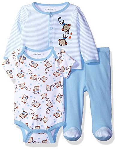 nannette-baby-boys-3-piece-layette-set-with-cardigan-creeper-and-pant-blue-0-3m