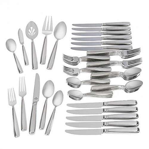Waterford Glenridge 18/10 Stainless Steel 65-Piece Set, Service for 12 by Waterford  Fine Flatware