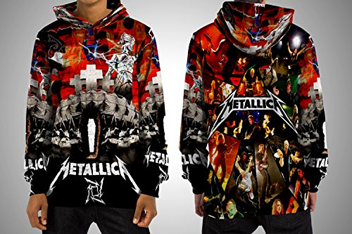 METALLICA: Thrash Metal Albums Custom Fullprint Sublimation Tshirt (L, Pullover Hoodie) Metallica Metal