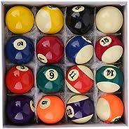 16Pcs Leisure Sports Billiard Ball, 2 Inch Indoor Durable Billiard Pool Ball Set, for Billiard Room Playroom
