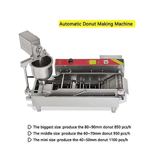 Zinnor Automatic Donut Making Machine,Automatic Donut Maker/Auto Donuts Frying Machine/Auto Molding,Auto Frying,Auto Turning,Auto Collecting by Zinnor