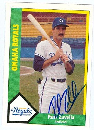 Paul Zuvella Autographed Baseball Card Omaha Royals Ccm