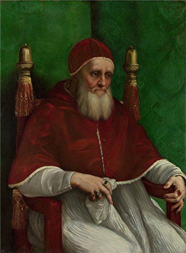 Polyster Canvas ,the Beautiful Art Decorative Canvas Prints Of Oil Painting 'Raphael Portrait Of Pope Julius II ', 16 X 22 Inch / 41 X 55 Cm Is Best For Gym Gallery Art And Home Decoration And Gifts