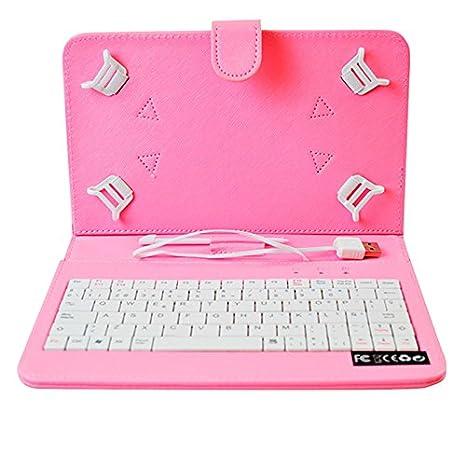 HOME a107400-8-PINK - Funda para Tablet con Teclado, Color Rosa: Amazon.es: Electrónica