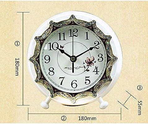 CLHXZE Reloj de Mesa Retro/Reloj de Mesa de la Sala -Europa Mute ...