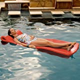 "Texas Recreation Sunray 1.25"" Thick Swimming Pool Foam Pool Floating Mattress, Coral"