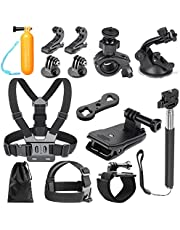 Neewer 14-in-1 Outdoor Sports Action Camera Accessory Kit for GoPro Hero 7 6 5 4 3+ 3 2 1 Hero Session 5 Black AKASO EK7000 Apeman SJ4000 5000 6000 DBPOWER AKASO VicTsing WiMiUS Rollei QUMOX Lightdow Campark und Sony Sports Dv and More