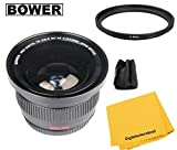 Bower 0.42x High-Speed Wide-Angle Fisheye Lens with Macro For Canon EOS T7i T6i T6s T5i T4i T3i T2i T1i SL1 T5 T3 XS 18-55mm