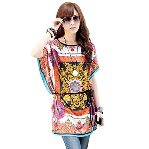 Qiyun 3008S0225 - Vestido para mujer Amarillo