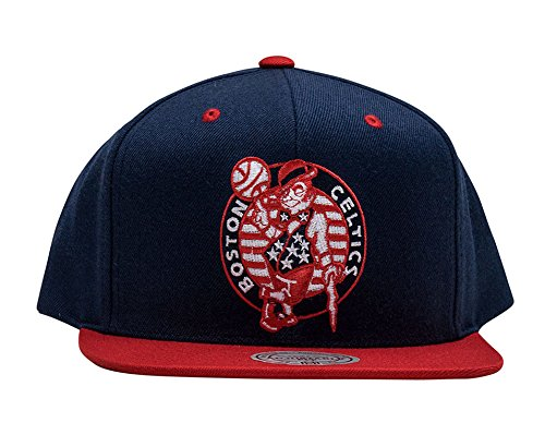 Mitchell & Ness Boston Celtics Hoops Troops Snapback Hat - NBA Adjustable, USA 4th of July Special Edition Cap (Snap Celtics Boston)