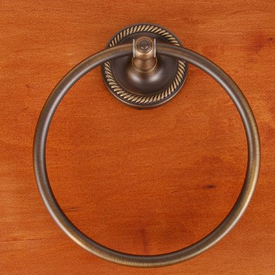 Rope Base Towel Ring - RB Series Wall Mounted Rope Base Towel Ring Finish: Antique English