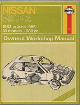 nissan micra owner s workshop manual colin brown 9780856969317 rh amazon com Nissan Owners Manual PDF 2012 Nissan Altima Owner's Manual