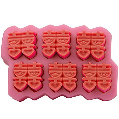 Let'S Diy Double Happiness Turn Sugar Cake Mould Chocolate Mould Handmade Soap Mold Baking Tools -