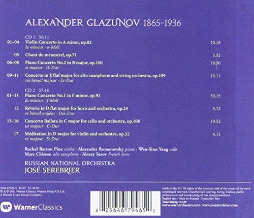 Alexander Glazunov, Jose Serebrier, Russian National Orchestra - Glazunov:  Complete Concertos - Amazon.com Music