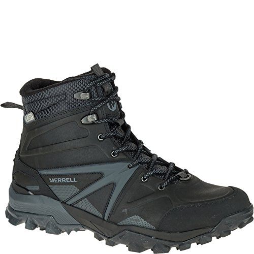 Merrell Herren Capra Glacial Ice+ Mid Waterproof Trekking-& Wanderstiefel, Schwarz BLACK