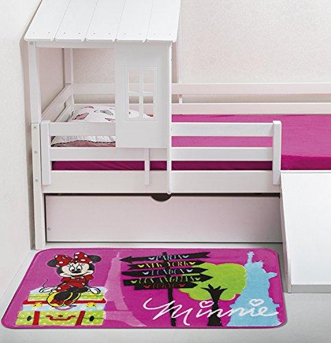 Tapete Orient Disney Minnie Viagem Jolitex Rosa 70x110cm