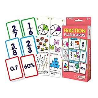 Junior Learning Fraction Flashcards, Multi