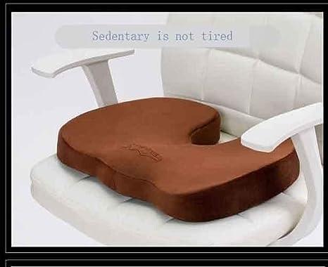 Cojín de asiento de espuma de memoria ortopédica: alivio del ...