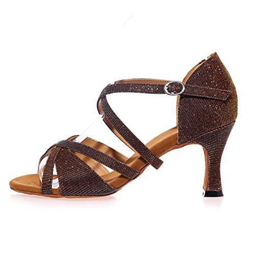 L@YC Zapatos De Baile Femeninos LatíN / amarillo /azul / MarróN / Rojo / Blanco / Negro Red
