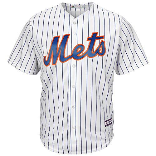 New York Mets Home White Pinstripe Cool Base Jersey - Jersey Pinstripe Mets Replica Mlb