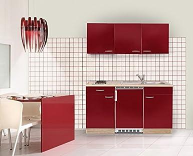 Miniküche Mit Kühlschrank Bauknecht : Mebasa mebakb rak miniküche küchenblock singleküche in akazie