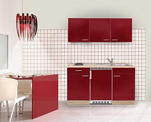 Frisch Mebasa MEBAKB15RAK MiniKüche, Küchenblock, Singleküche in Akazie  SY72