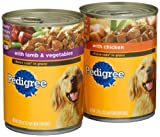 Pedigree Choice Cuts Variety Pack (with Chicken, with Lamb and Vegetables) Food for Dogs, 13.2-Ounce Cans (Pack of 24), My Pet Supplies