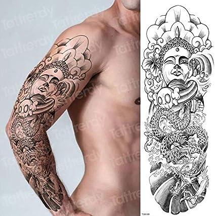tzxdbh Tatuaje Hombre Robot Brazo Manga Etiqueta engomada del ...