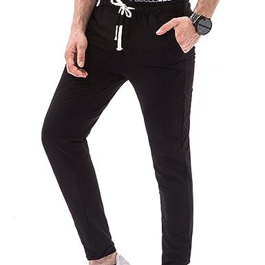 kaifongfu Men Trouser Slacks Active Running Jogger ...
