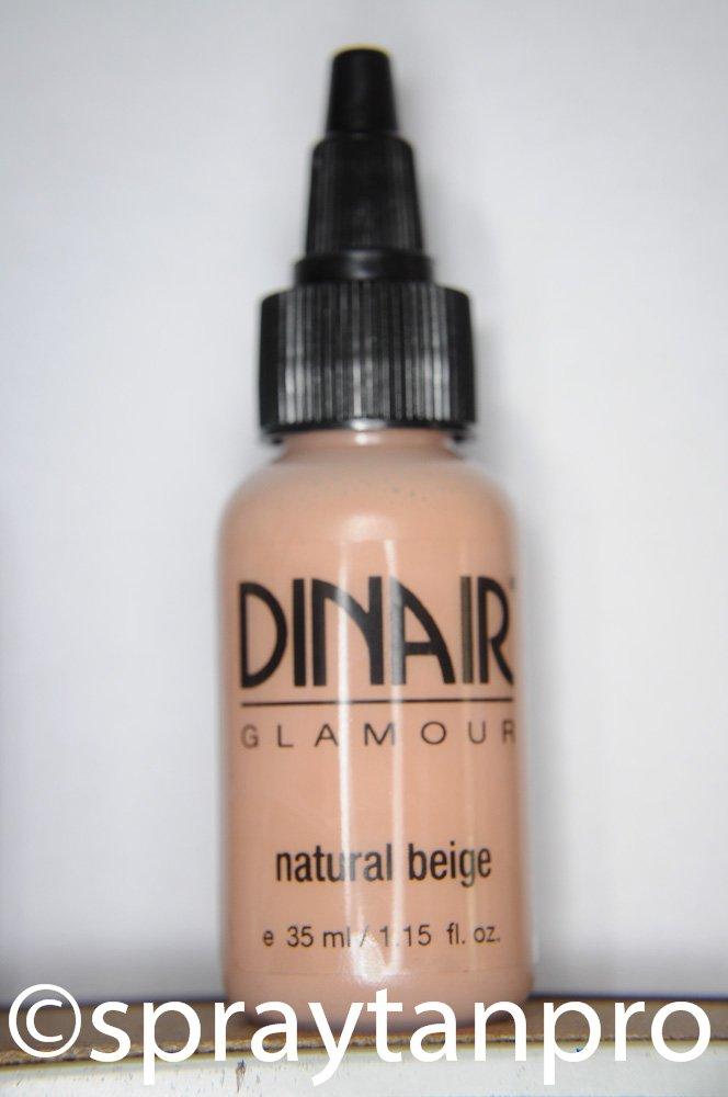Dinair Airbrush Makeup Foundation | Natural Beige | GLAMOUR: Natural, Light coverage, Matte 1.15 oz.