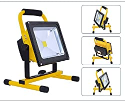 MyraBec Trading FL4010 Cordless Rechargeable Ultra Bright LED Floodlight for Home, Auto, Job Site & Large Areas