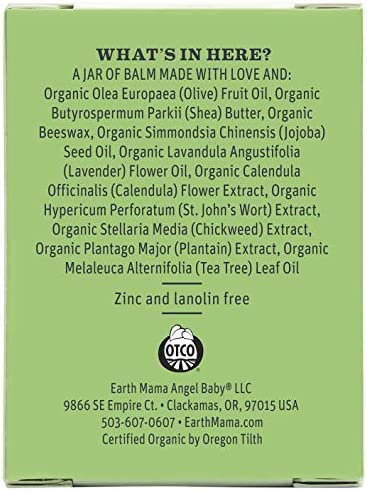 51P2AwhuWQL. AC - Organic Diaper Balm By Earth Mama | Safe Calendula Cream To Soothe And Protect Sensitive Skin, Non-GMO Project Verified, 2-Fluid Ounce