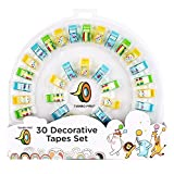 Deluxe Decorative Tape Set with With Cute Dispenser 30 Pack