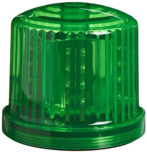 """PL-300GJ Battery Powered Beacon, Ultra Bright LED, 5"""" Diameter x 5"""" Height, (Green Strobe Light)"""