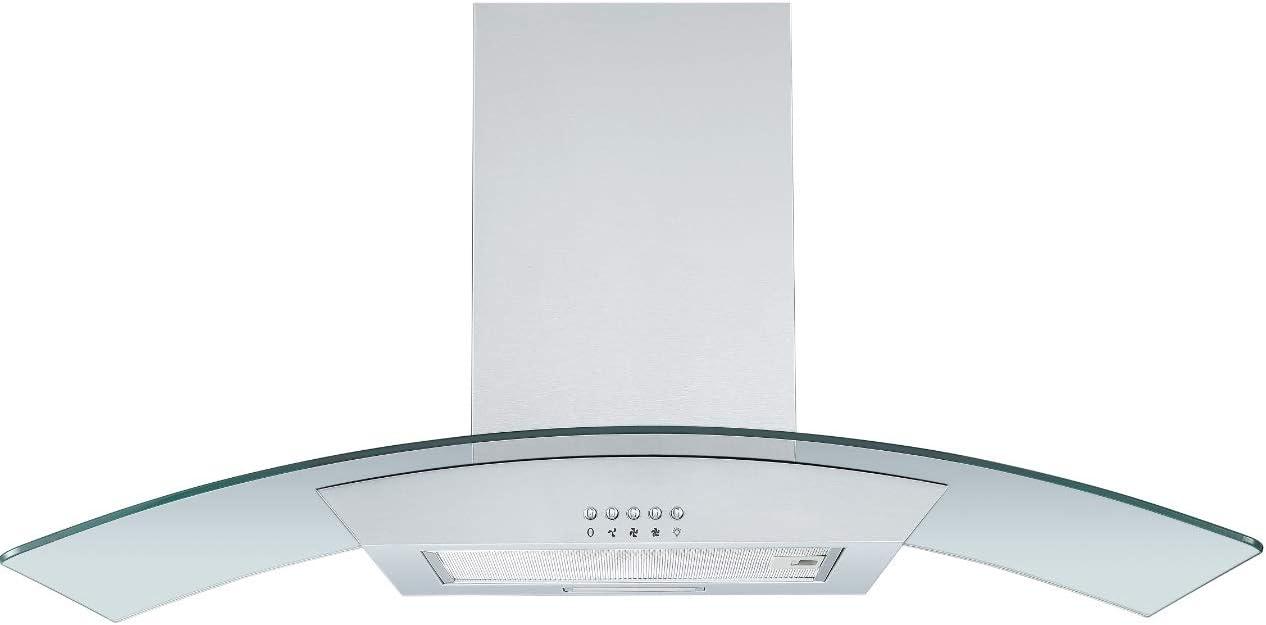 respekta CH0190IXB - Campana de cristal (acero inoxidable, 90 cm, eficiencia energética: B): Amazon.es: Grandes electrodomésticos