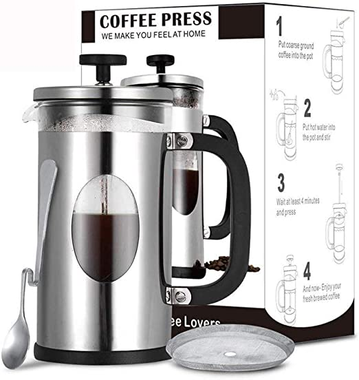 Café/tetera de prensa francesa, Cozyroom 34 oz Manual mejor ...