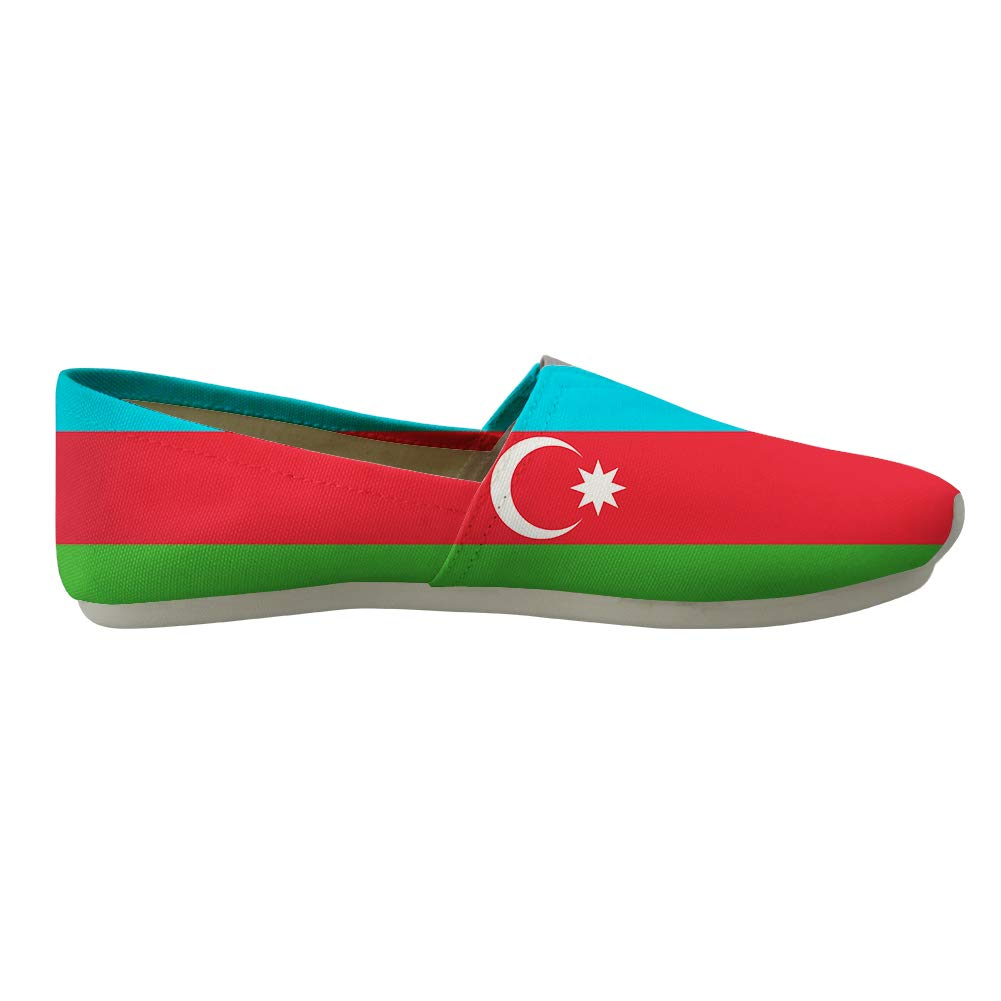 Classic Canvas Slip-On Lightweight Driving Shoes Soft Penny Loafers Men Women Azerbaijan Flag