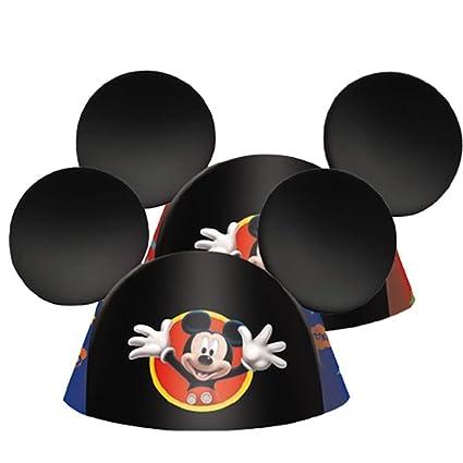 Disney Mickey Mouse Ears 8 sombreros Fiesta de cumpleaños regalos partido  suministros decoraciones 4942b356a61