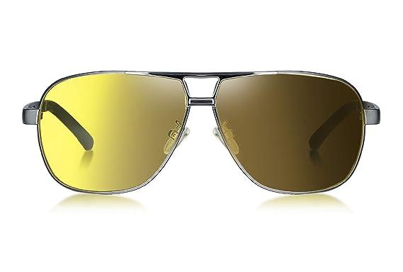 WHCREAT Gafas de Sol Polarizadas Fotocromáticas Estilo Piloto Con Bisagras de Resorte Lente de Protección UV400 Para Hombres