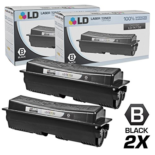 LD © Compatible Replacements for Kyocera-Mita TK-132 Set of 2 Black Laser Toner Cartridges for use in Kyocera-Mita FS-1028mfp, FS-1128mfp, FS-1300D, and FS-1350DN Printers