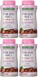 Natures Bounty JuthN Hair Skin and Nails, 230 Gummies (4 Pack)