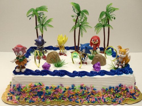 Unique 12 Piece Classic Sonic the Hedgehog Cake To…