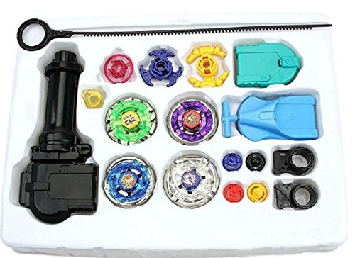 New Fusion Top Metal Master Rapidity Fight Super String Rare Beyblade 4D Launcher Grip Set