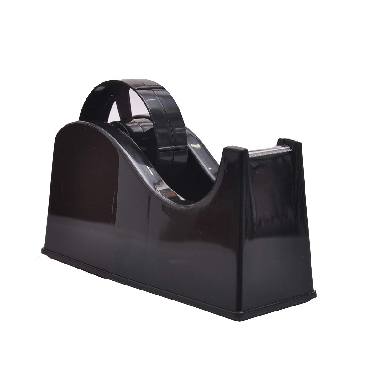 "Desktop Tape Dispenser Adhesive Roll Holder (Fits 1"" & 3"" Core) with Weighted Nonskid Base Black"
