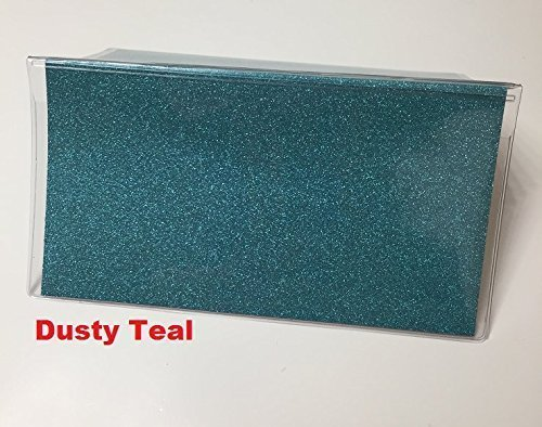Amazon Vinyl Checkbook Cover Glitter Dusty Teal Turquoise