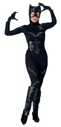 uhc womens catwoman batman returns dc comic fancy dress halloween costume standard up to