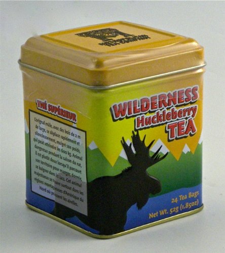 Wilderness Huckleberry Gourmet Black Tea Blend, 24 Bags in a Decorative Collectible Tin - Sale